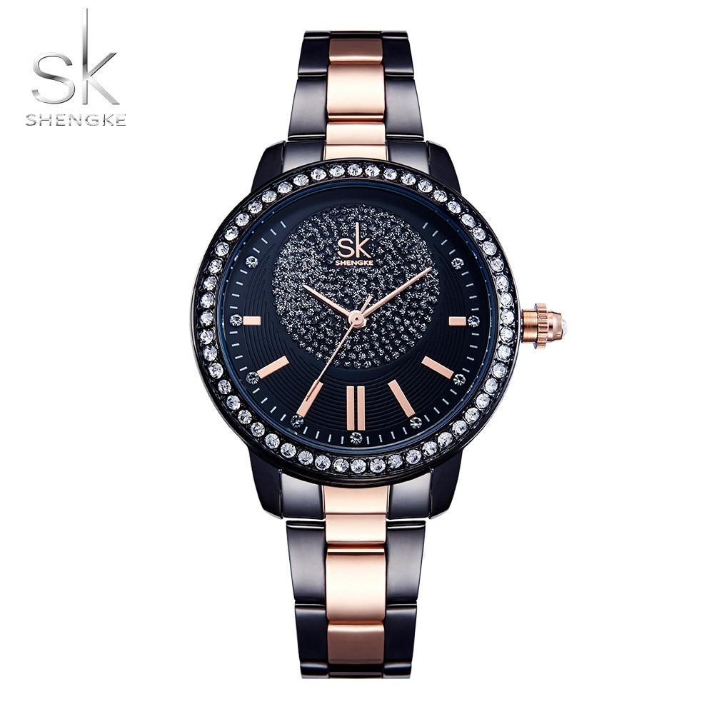 2019 Shengke Rose Gold Watch Women Quartz Watches Ladies Top Brand Crystal Luxury Female Wrist Watch Girl Clock Relogio Feminino enlarge