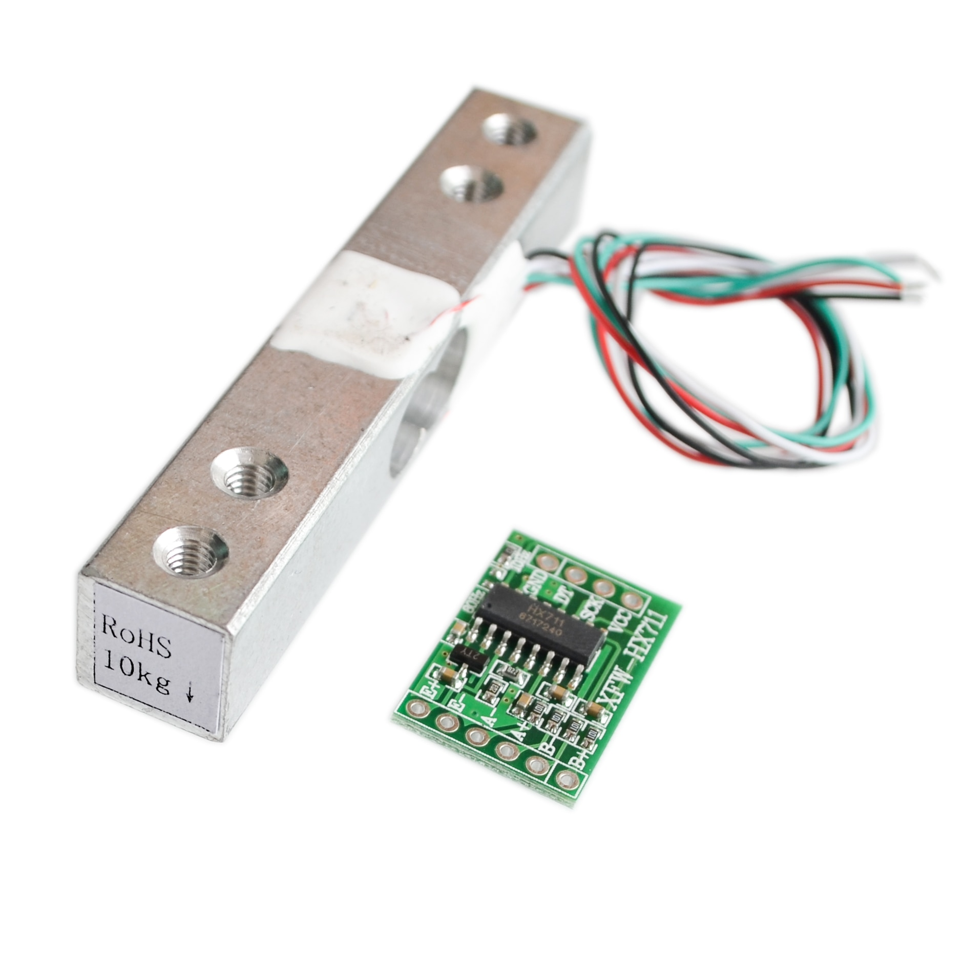 Sensor de peso Digital de célula de carga 10KG balanza de cocina electrónica portátil + HX711 sensores de pesaje MÓDULO DE CA para