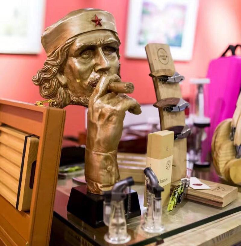 Expositor de puros, bronce, resina, chapado en cobre, artesanía, puro, busto para hombre, escultura, Base de mármol para el hogar, esculturas, estatua
