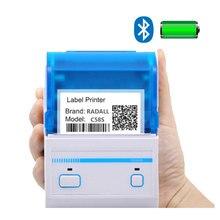 Impresora térmica de etiquetas de 58mm compatible con sistema Android/IOS, impresora USB/Bluetooth, mini impresora de bolsillo, fabricante de códigos de barras
