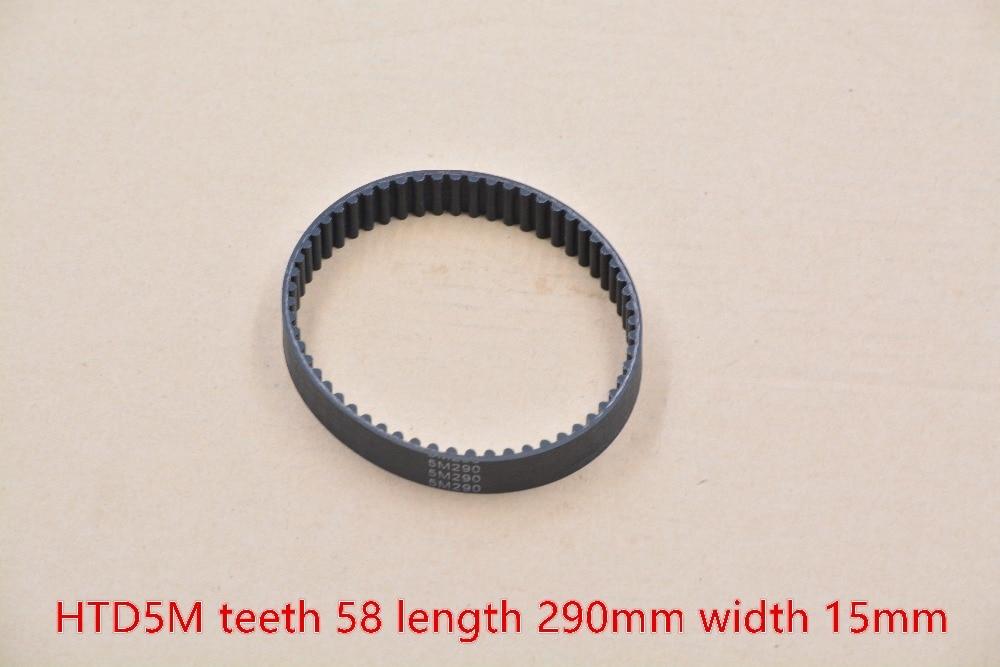 3d printer belt closed loop rubber HTD 5M timing  58 teeth 290mm length 15mm width  290-5M-15 1pcs