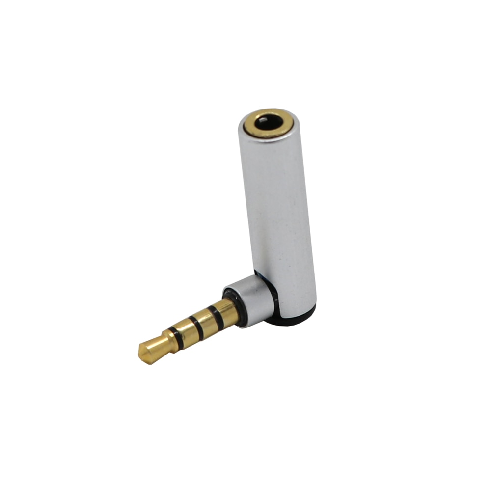 3,5 мм мужчин и женщин 90 градусов под прямым углом адаптер конвертер наушников разъем для аудио микрофона Стерео разъем