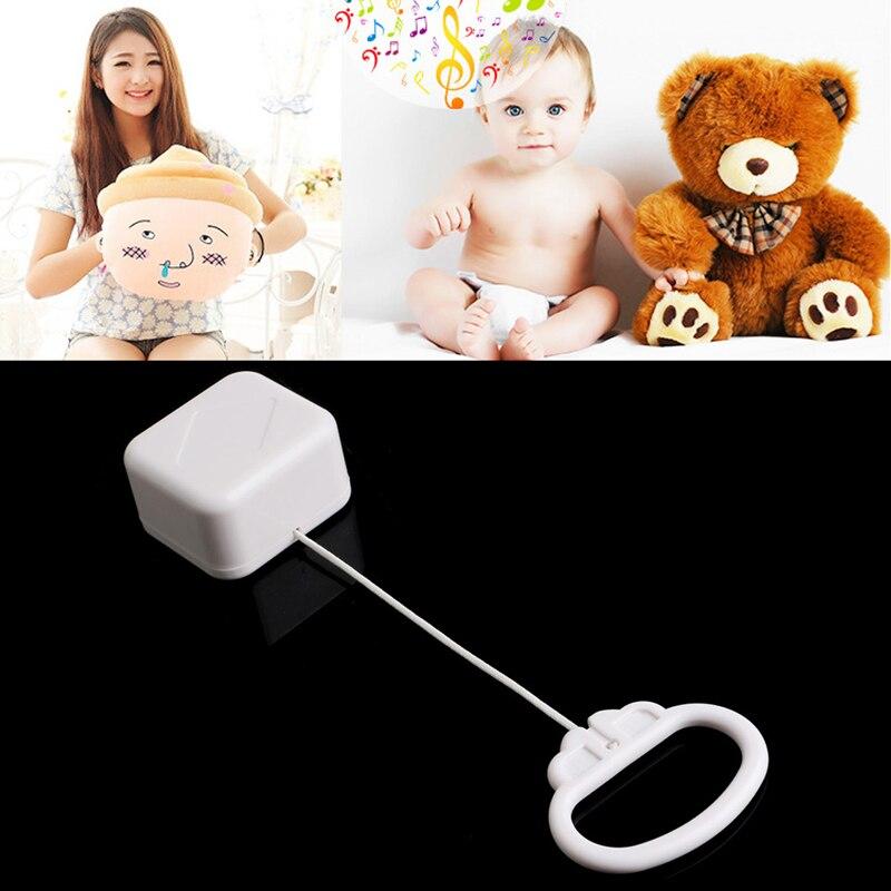 Nueva caja de música con cuerda para tirar de la campana para cama de bebé, juguete para niños, canciones aleatorias