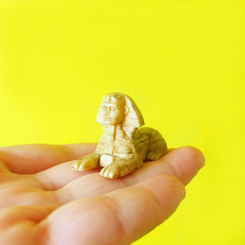 sale~1Pcs Sphinx/fairy garden gnome/moss terrarium home decor/crafts/bonsai/bottle garden/miniatures/toy/model