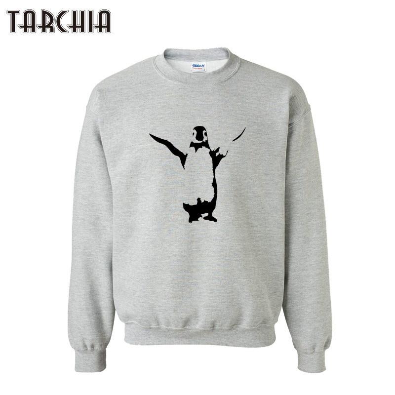 TARCHIA Sudadera con capucha hombres pingüino impreso Otoño Invierno ropa masculina camisa con capucha y sudaderas para Hombre Ropa