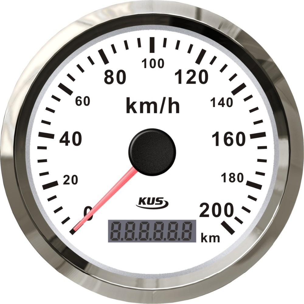 Velómetro GPS KUS 85mm velómetro 0-200 km/h 12 V/24 V para playa buggy coche camión tractor