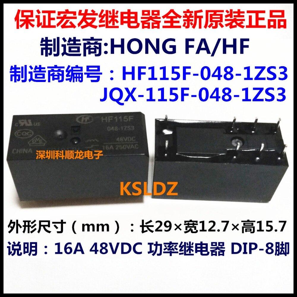 100% Original nuevo HF JQX-115F-048-1ZS3F HF115F-048-1ZS3F HF115F-048-1ZS3 JQX-115F-048-1ZS3 8 pines 16A250VAC 48VDC relé de potencia
