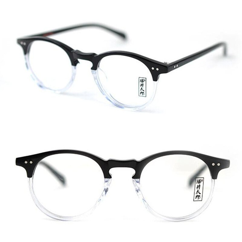 Vintage Oval Eyeglasses Frames Transparent Full Rim Eye Glasses Men Women Optical Spectacles Eyewear Myopia Rx able Top Quality