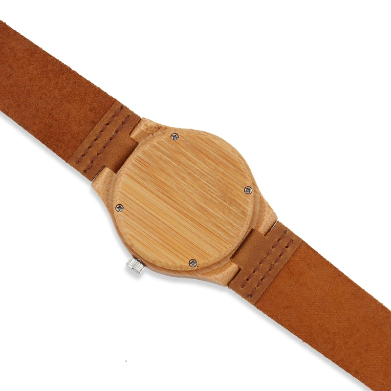 Bamboo Wood Watch Women watches ladies clock leather watchband Wristwatch Luxury Brand relogio femininos 2020 Quartz Watch enlarge