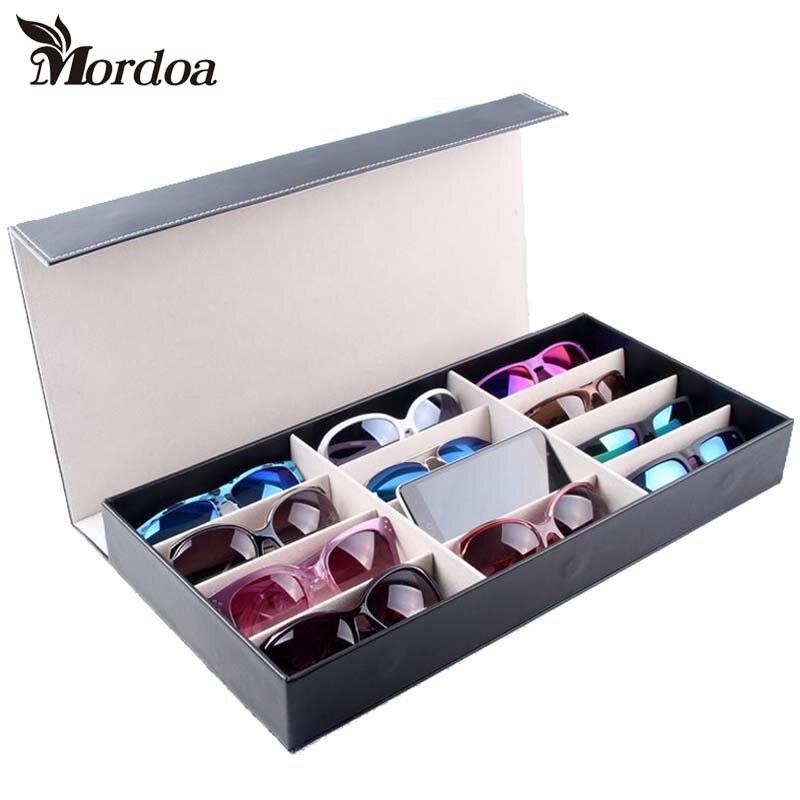 Mordoa جديد نمط 12 شبكات نظارات القلائد مجوهرات رف عرض التخزين المنظم صناديق تظهر حالة نظارات ثلاثية الأبعاد رف شاشة/الرف