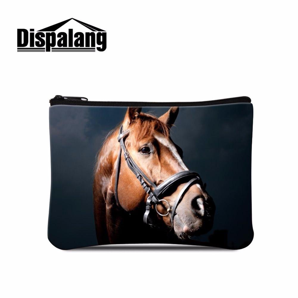 Dispalang trendy female wallet horse print mini change coin purse child purse makeup buggy bag pouch portable money bag coin bag