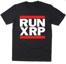 Runner Xrp-Ripple T-Shirt-Run Dmc Spoof-crypto-monnaie Bitcoin Btc Mining 2019 nouvelle marque hommes Cool haut col en o sur T-shirt