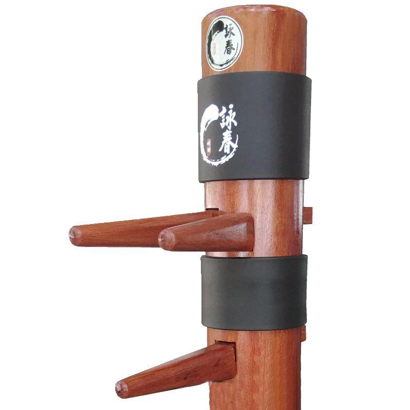 2 unids/lote maniquí de madera Wing Chun chaqueta cabeza de Kung Fu Jeet Kune Do artes marciales tradicionales de madera de cabeza de tonto proteger