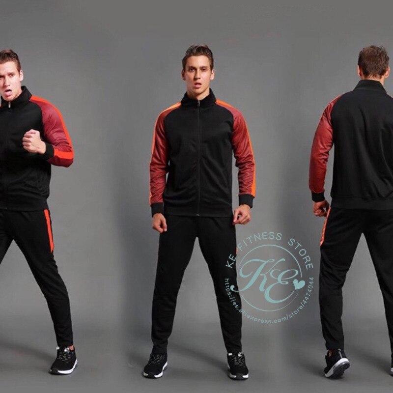 KE Set deportivo para hombre, conjunto deportivo negro a la moda, chandal,...