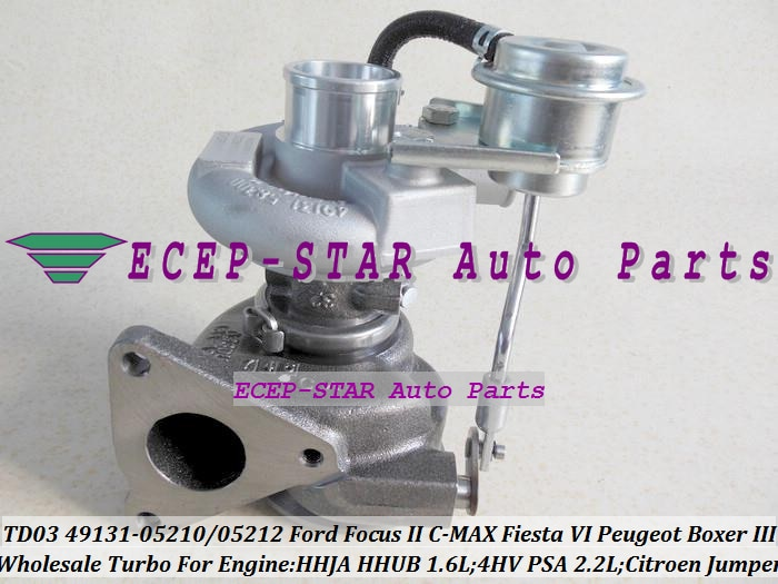 Envío Gratis TD03L4 49131-05210 49131 Turbo 05210 para Ford C-MAX Fiesta VI HHJA HHUB 1.6L puente para Peugeot Boxer 3 4HV PSA 2.2L