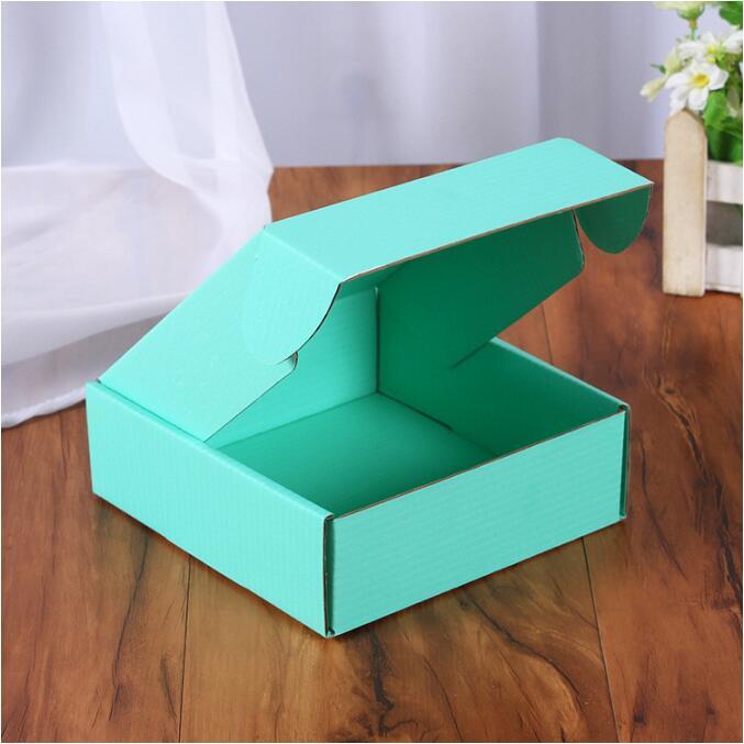 Caja de regalo de papel de 20 piezas colores pequeña caja de embalaje cuadrada para joyería DIY caja de embalaje de cartón corrugado