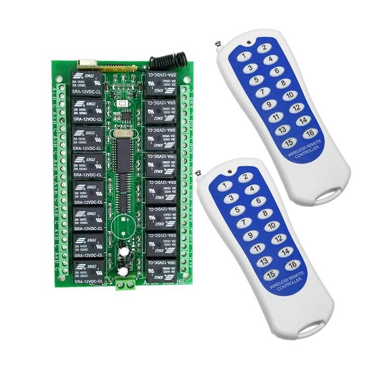 جهاز تحكم عن بعد لاسلكي RF ، بعيد المدى ، 1000 متر ، DC12V 16CH ، جهاز إرسال واستقبال/مصباح