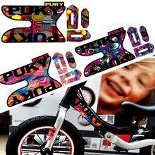 Pegatina de bicicleta de equilibrio Kids-Puky, pegatinas impermeables, pegatina reflectante de entrenamiento de 12 pulgadas