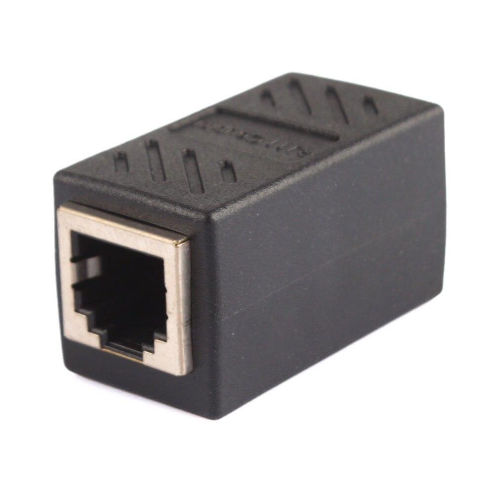 1/2 pces rj11 6p6c 6p4c 6p2c fêmea ao conector fêmea da extensão do cabo do telefone da conexão do pwb c lan