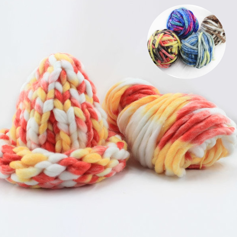 Lana gruesa islandesa lana suéter grueso lana hilo Super voluminoso brazo tejer lana sombrero alfombra mano Crochet hilo 7A0818