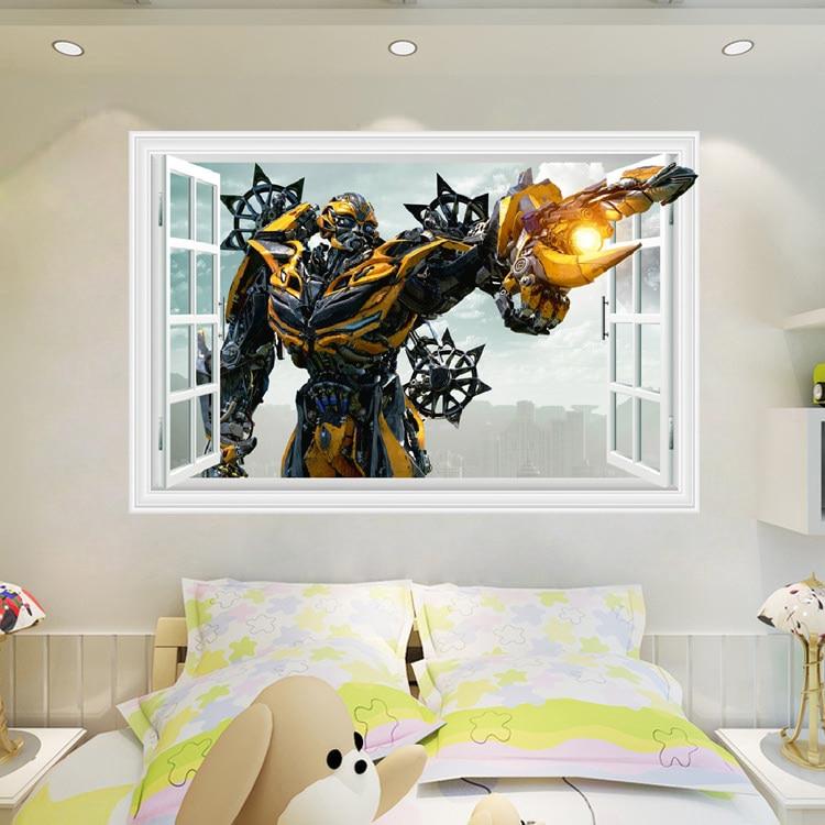 Pegatina para ventana 3D de abejorro grande pegatina extraíble decoración artística para niños B213