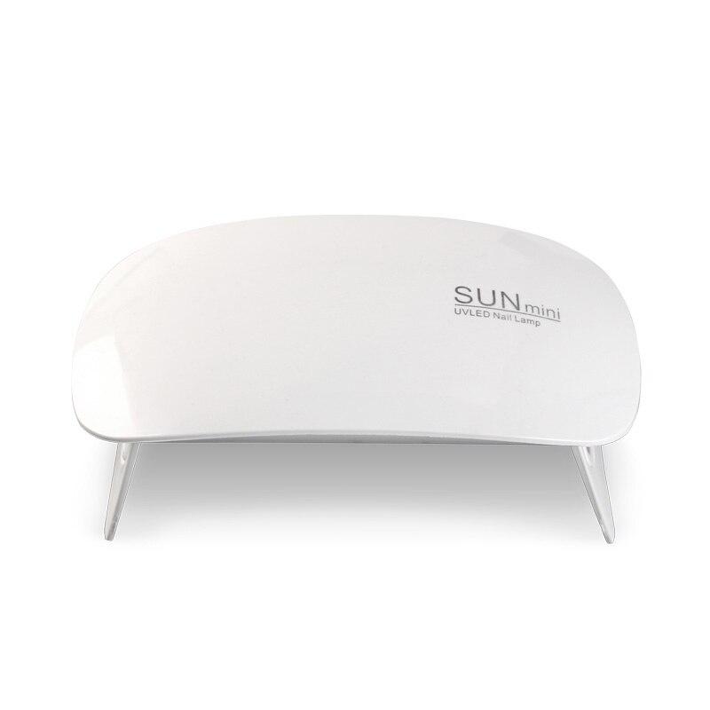 Lámpara de LED UV secador de uñas SUNmini 6W Cable USB portátil para regalo principal 45 s/60 s lámpara de temporizador para laca de gel para uñas JJDJ01