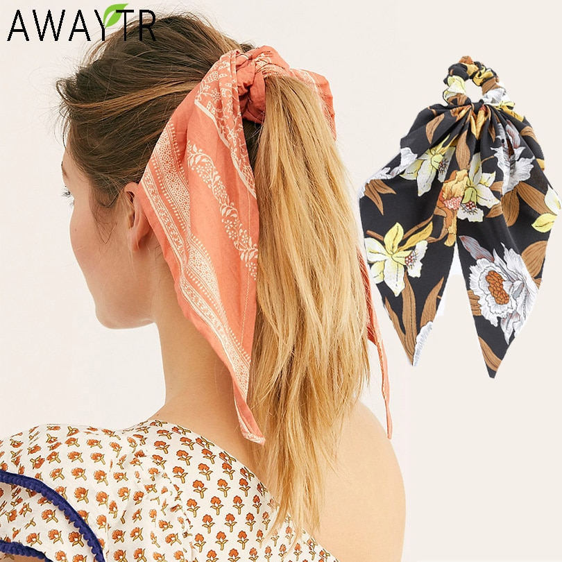 Women Ponytail Streamers Elastic Hair Rope for Lady Women Hair Ties Bow Scrunchies Girl Hairbands Ribbon Holder Hair Accessories women satin ribbon bow elastic hair band hair tie ring rope scrunchie ponytail holder headbands hair accessories hairbands