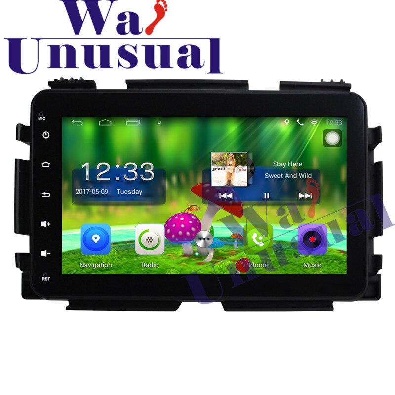 8 Polegada Quad Core 16G Android Leitor Multimédia 6.0 Carro GPS de Navegação Para Honda Vezel 2015 com WI-FI BT 3G HD 1024*600 Mapas Gratuitos