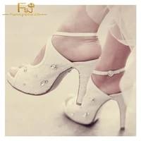 fsj women shoes ladies pumps white platform rhinestone cross over slingback stiletto brida 2021 spring autumn plus size 11 12 13