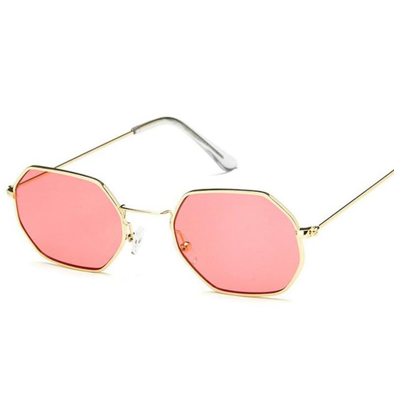 2021 New Polygon Sunglasses Women Men Brand Designer Vintage Sunglasses Gold Clear Sun Glasses Sexy