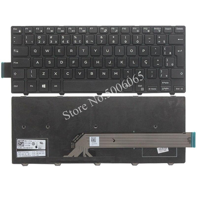 Brasil NOVO Teclado Do Portátil Para DELL M3441R M5445 14C 14MR-1528 14M 3000 3442 3443 3451 3458 7447 teclado BR