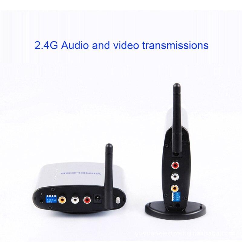 2018 nueva 2,4G AV inalámbrico AV PAT-220 de Audio de transmisión de vídeo con RX TX para de Audio video AV Transmisión