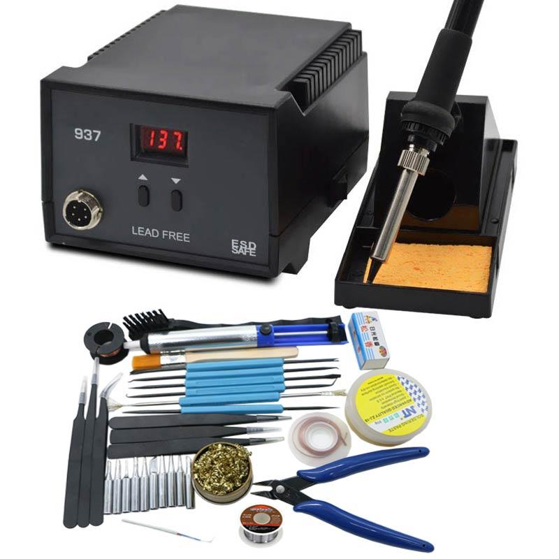 Estación de soldadura soldador electrico 600 LED Digital de alta calidad 936 W Estación de soldadura 937