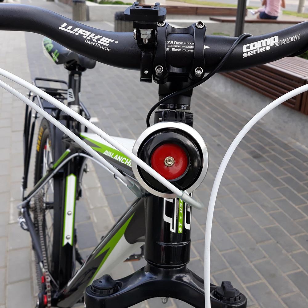 Campana para bicicleta con carga USB y alarma, claxon para ciclismo, manillar electrónico para bicicleta con sonido de campana sonora y alarma antirrobo de seguridad en bicicleta
