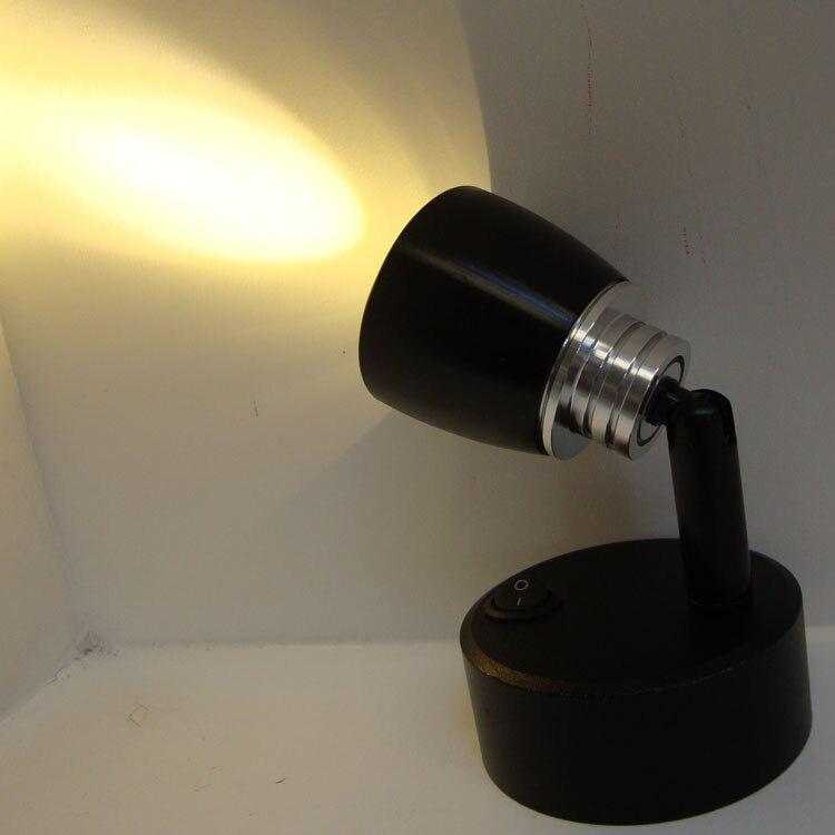 Светодиодный прожектор, маленький аккумулятор, освещение для шкафа, ювелирных изделий, стола, витрины, украшения, черный-za SD73