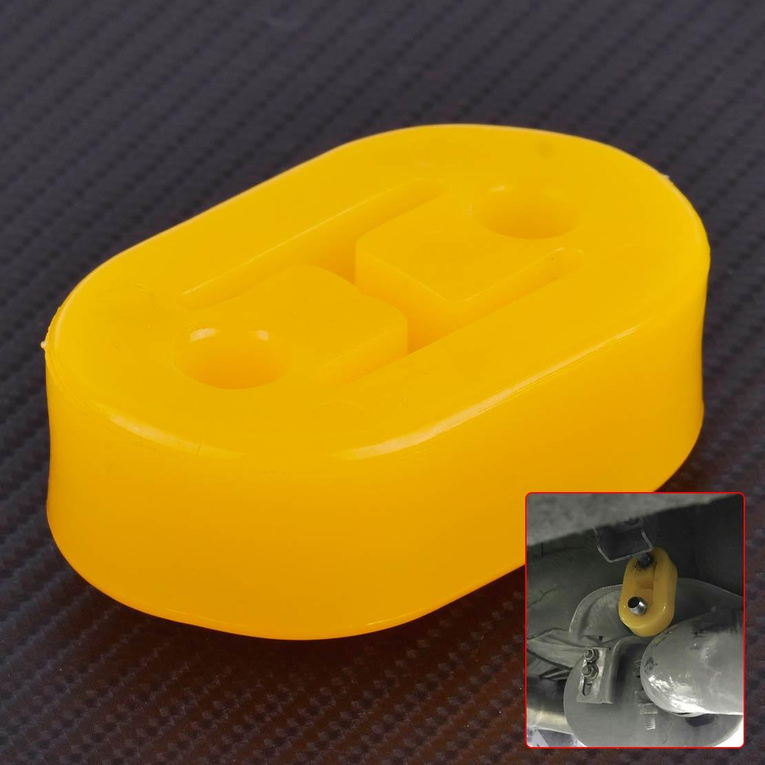 Carro Universal Amarelo Forma H 2 Buraco tubo de Escape de Borracha Montar Suportes de Cabide para Substituir VW Golf Audi Mazda Hyundai honda