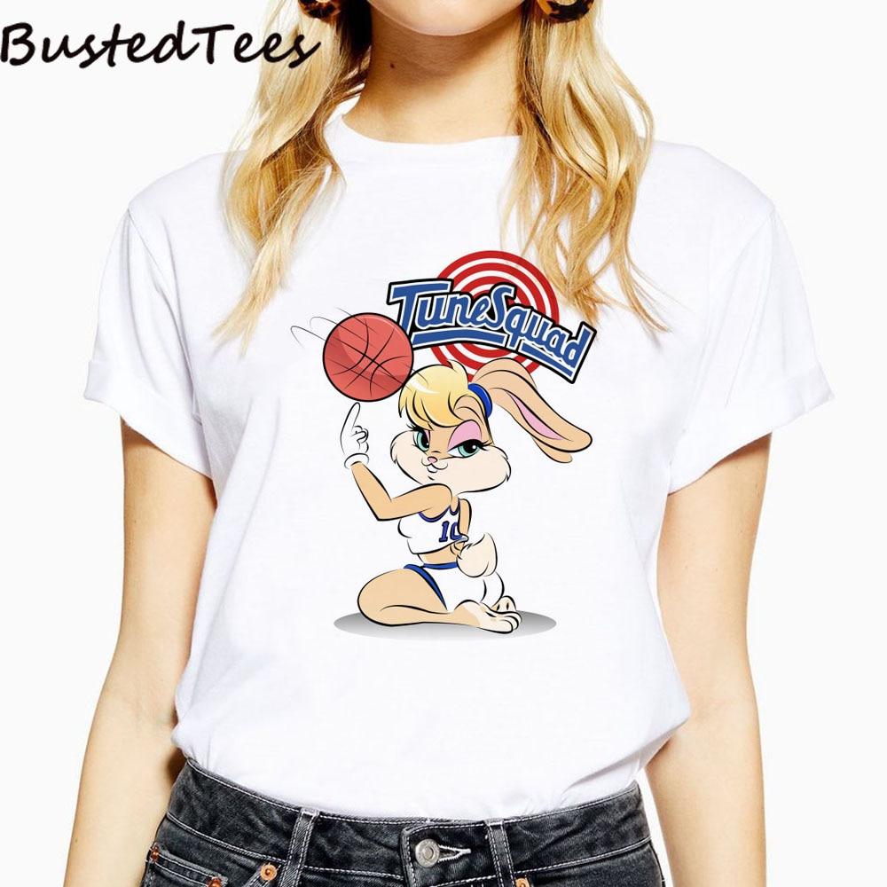2019 BUSTED 90s Newest Harajuku Women Lola Bunny Kawaii Print Miss Bunny Cotton T-shirts Summer Soft Casual Hipster Tops Tee