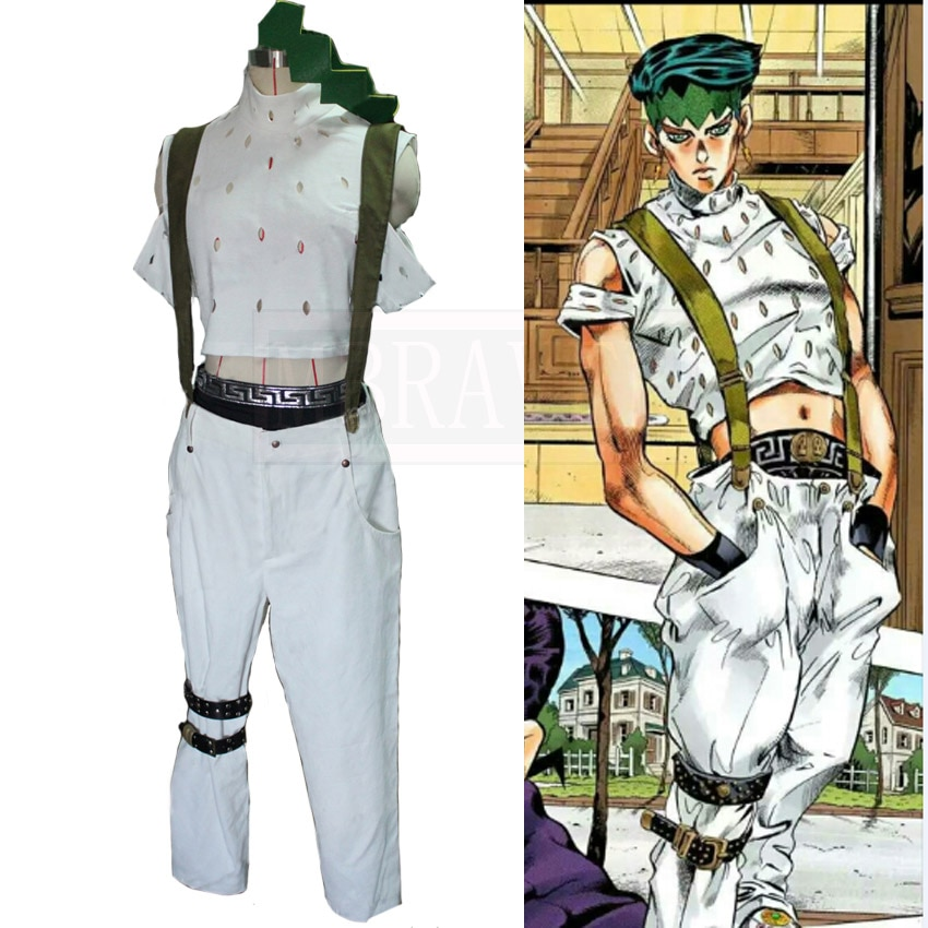 JoJos Bizarre Adventure Rohan Kishibe Cosplay Costume