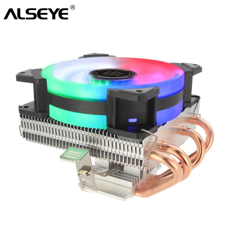Cooler para Lga Tubos de Calor com 90mm Am2 + – Am3 + – Alseye Ventilador 1151 – 1155 1156 Am4 Cpu 4 4pin