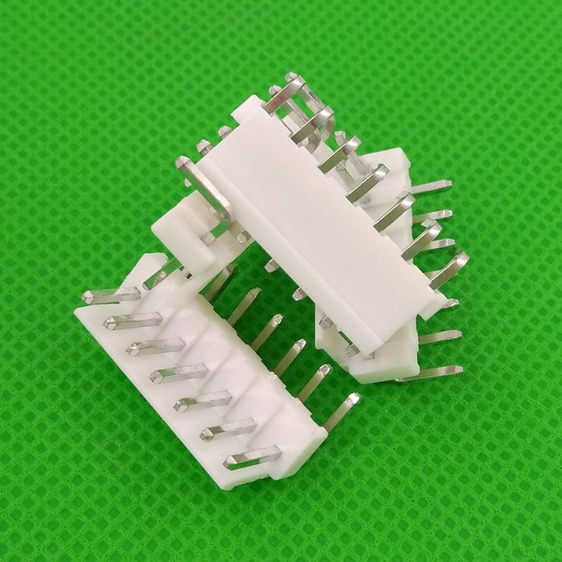 شحن مجاني 500 قطعة ذكر زاوية الحق المواد VH3.96 7pin 7 دبابيس موصل يؤدي رأس دبوس 3.96 مللي متر VH3.96-7AW