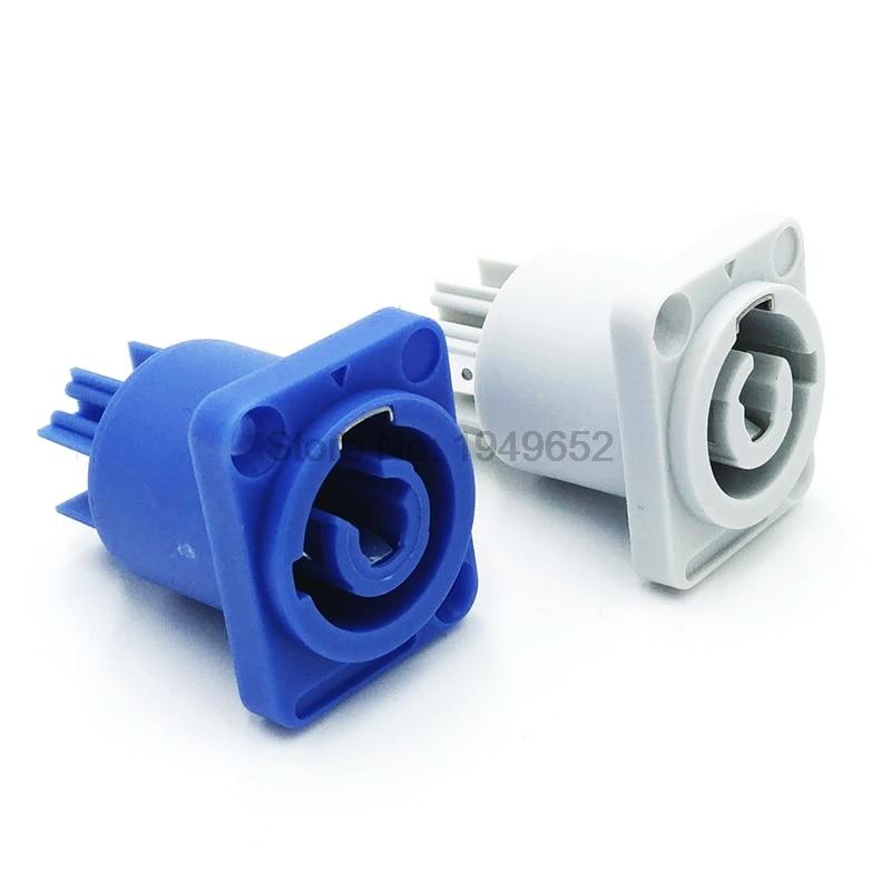 Сценический светодиодный кабель питания, штепсельная розетка с 3-контактной гнездовой панелью PowerCon, профессиональная вилка усилителя мощн...