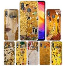 Öpücük Gustav Klimt kılıf Xiaomi Redmi için not 7 8T 9S 9 Pro Max K30 Zoom Mi 8 a3 CC9 10 lite Poco X2 F1 sert PC telefon kapağı sıcak