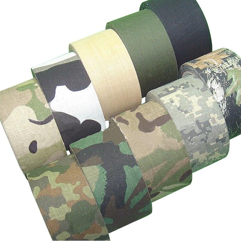 5M conducto al aire libre camuflaje cinta envoltura caza impermeable cinta adhesiva camuflaje vendaje militar 0,05 m x 5m /2 pulgadas x 196 pulgadas