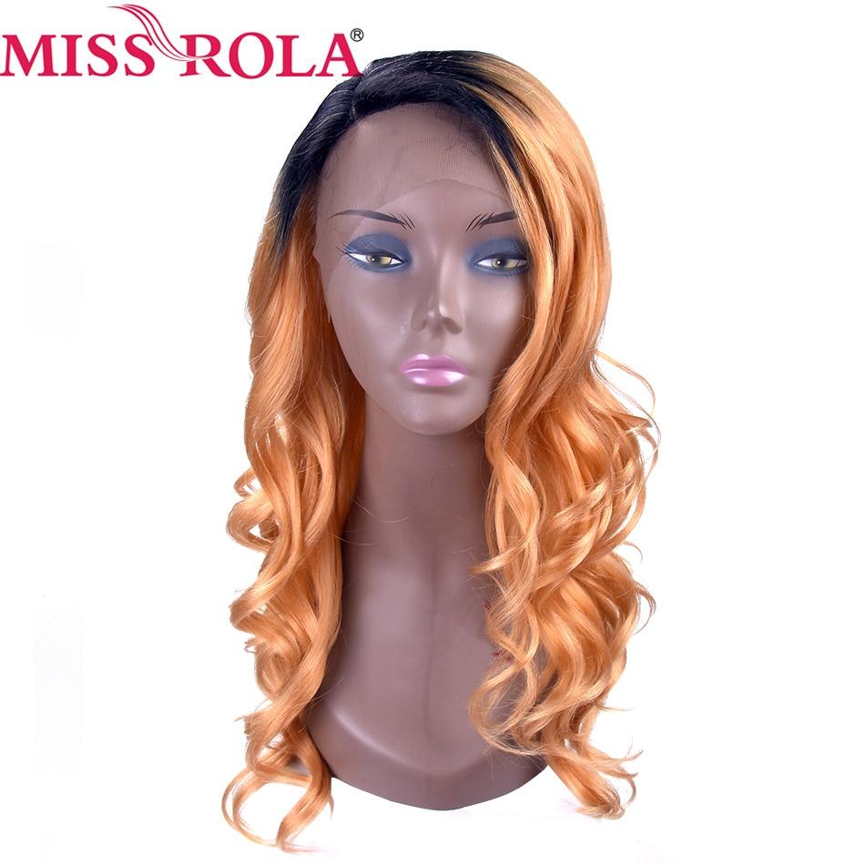 Pelucas rizadas sintéticas Miss Rola T144B, pelucas de color degradado, pelucas resistentes al calor de 18 pulgadas para mujer, fibra de alta temperatura