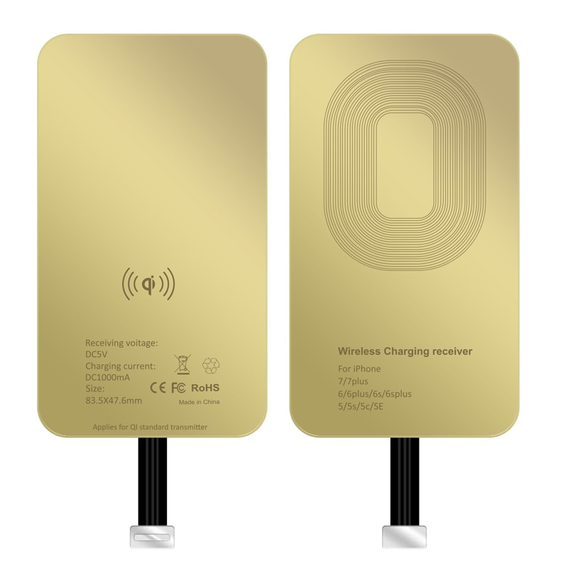 QI Wireless Charger Receiver For iPhone 5 5s 7 7Plus 6 6Plus Universal Wireless Charging Receiver for Micro USB Type-C Phone