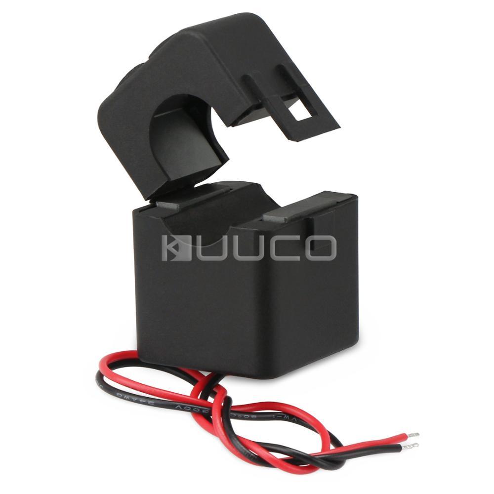 Transformador de corriente CA, 100 A/100mA, la Base dividida más pequeña, transformador de corriente CA, tipo de suspensión, Sensor de corriente