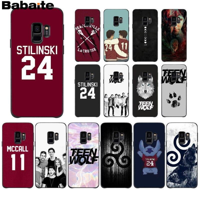 Babaite Teen Wolf Stilinski 24 McCALL 11 LAHEY 14 teléfono caso Samsung S9 S9 más S5 S6 S6edge S6plus S7 S7edge S8 S8plus M10 20