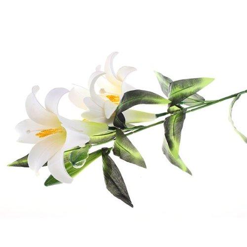 Fleur Artificielle Lis Lys Tissu Plastique Deco Maison Bureau BLANC