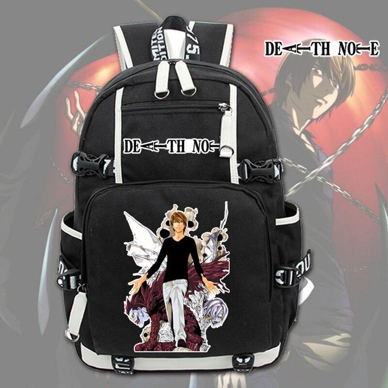 Nouveau japonais Anime Note de mort sac à dos pour ordinateur portable Cosplay dessin animé unisexe étudiant sacs décole Bookbag voyage noir sac