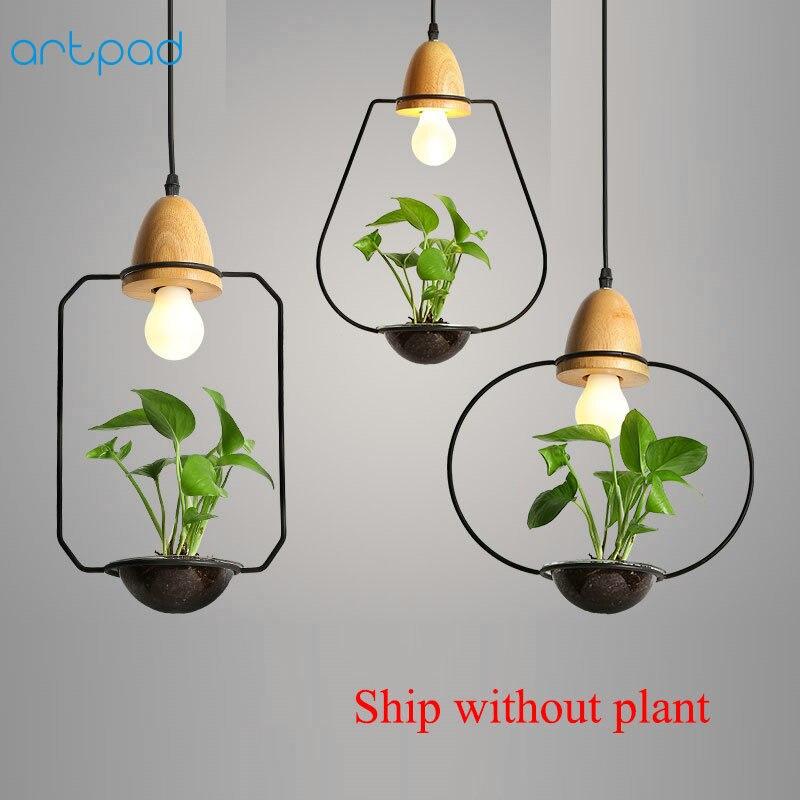 Artpad, colgante moderno de planta verde, decoración de hierro forjado, restaurante, Bar, cafetería, sala de estar, iluminación de estudio, lámpara colgante LED